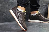 Кроссовки мужские Reebok повседневные, спортивные под джинсы  весна-осень, рибок (коричневые), ТОП-реплика, фото 1