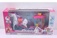Карета с лошадью и куклой музыка, свет 00508