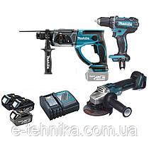 Набор аккумуляторного инструмента Makita DLXMUA504 LXT
