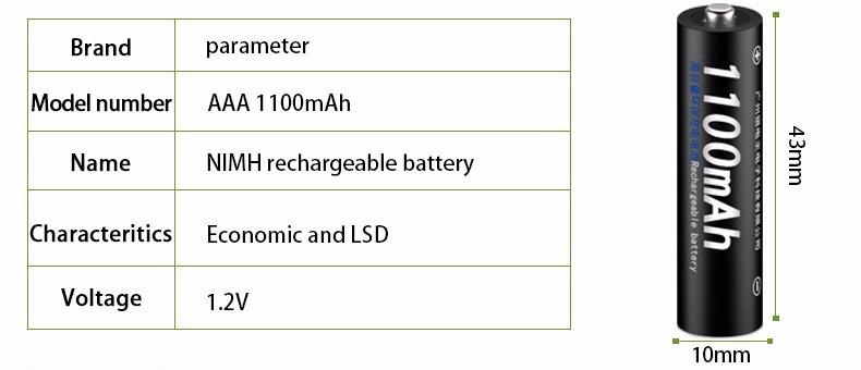 Аккумуляторы PALO AAA. Реальная емкость 450-600 мАч