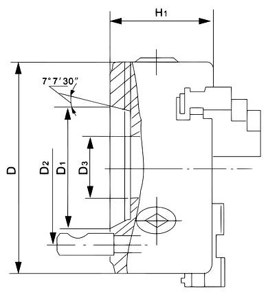Стандартный трехзаходной патрон DK11-315/D11, фото 2
