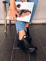 Модные женские кожаные кроссовки со стеганными вставками Carlo Pachini, фото 1