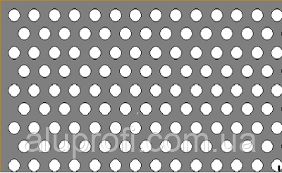 Лист алюминиевый перфорированный Rv5-8 1х1000х2000мм