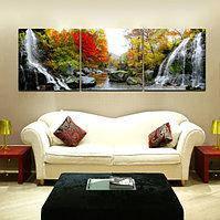 Триптих – 3 картины с одним сюжетом. Нарисуй море или водопад на удачу!