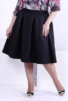 Женская пышная юбка 0881 / размер 48-72 / цвет черный