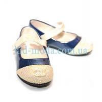 Туфли Chanel c золотым носочком