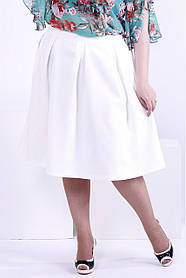 Женская пышная юбка 0881 / размер 48-72 / цвет белый