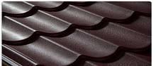 Металлочерепица ПСМ профиль  (коричневая 8017 ) 0,5 мм