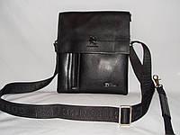 Мужская сумка Gorangd 7724-4 черная искусственная кожа, фото 1