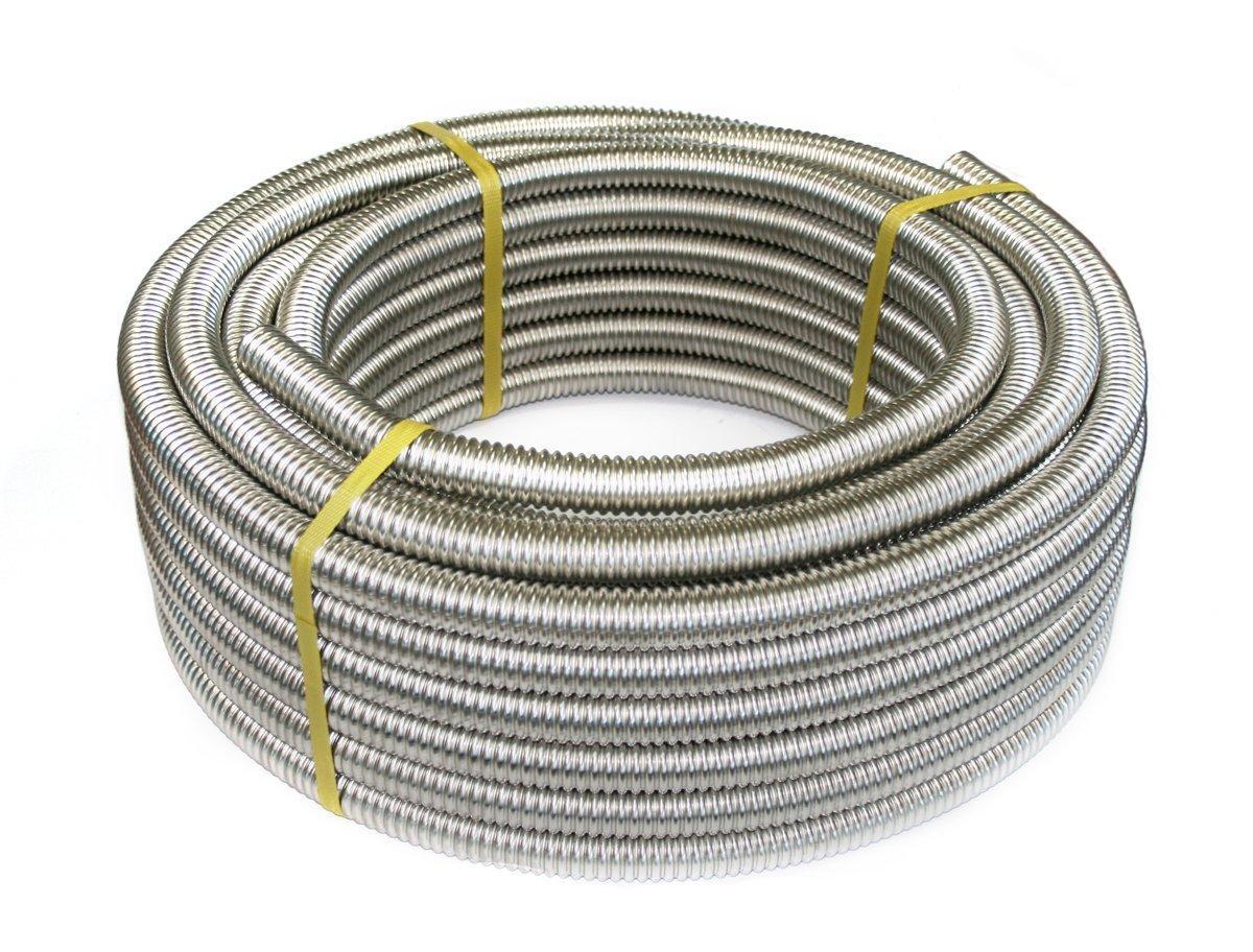 20 Металорукав гофрований з нержавіючої сталі DISPIPE 20GF-C (W), для кабельканала з протяжкою