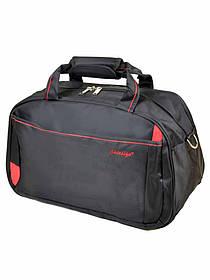 Дорожная сумка-саквояж 22806-20 Medium black-red