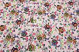 """Фланель детская """"Совы на цветных ветках"""", ширина 180 см, фото 2"""