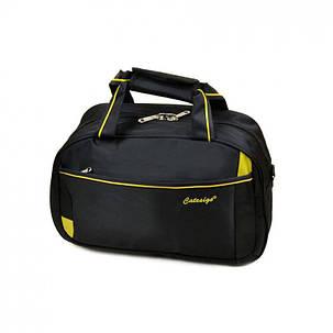 Дорожная сумка-саквояж 17501 18 Small black, фото 2
