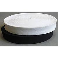 Эластичная лента/резинка 2 см белая+черная