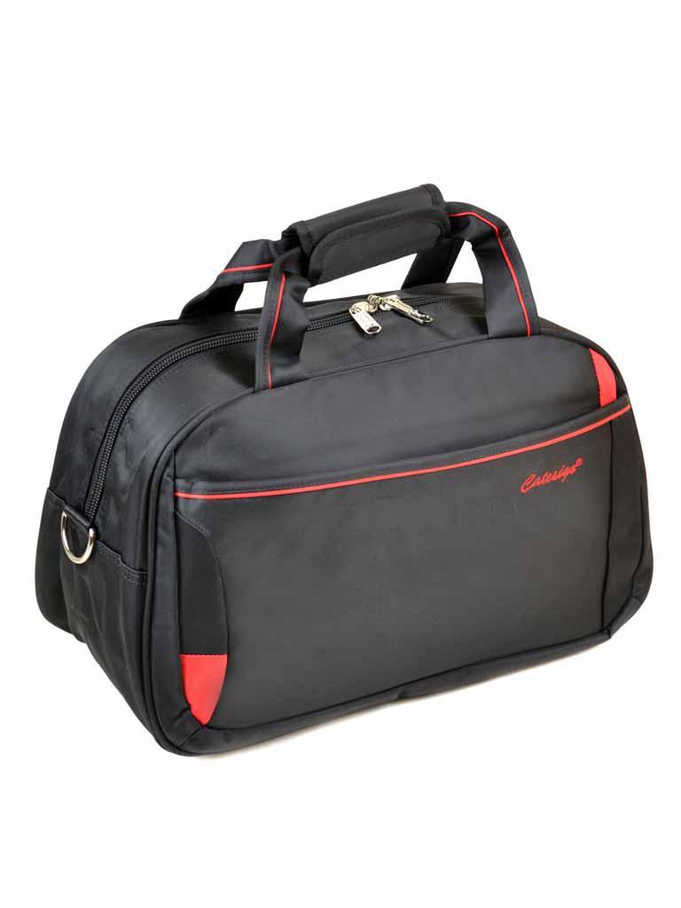 Дорожная саквояж-сумка 22806-18 Small black-red