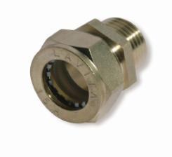 Муфта усиленная никелированная DISPIPE BC20x3/4 (M)NHP