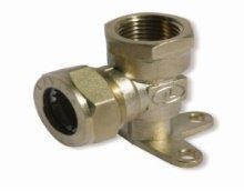 Угольник с креплением усиленный никелированный DISPIPE (BL20AW)NHP 20х3/4