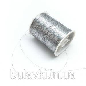 Нить люрикс серебро