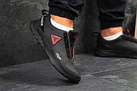Кроссовки мужские Reebok кожаные осенние непромокающие классические под джинсы (черные), ТОП-реплика, фото 1