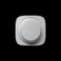 Лицевая панель светорегулятора с поворотной ручкой, без нейтрали Valena Allure Legrand, цвет алюминий