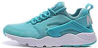 "Женские кроссовки Nike Air Huarache Ultra ""Hyper Turquoise/White"" (в стиле Найк Хуарачи) голубые"