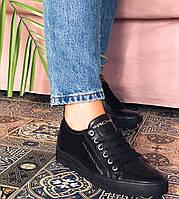 Женские кожаные кеды CARLO PACHINI черные, фото 1