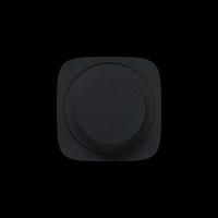 Лицевая панель светорегулятора с поворотной ручкой, без нейтрали Valena Allure Legrand, цвет черный