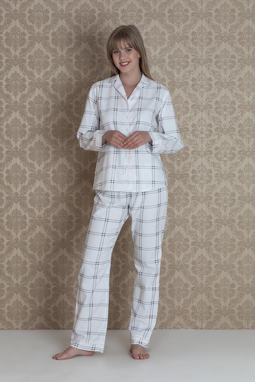 Фланелева жіноча піжама на гудзиках вільного крою Hays 17149