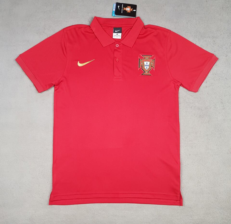 Футболка поло Португалия  (cезон 2018-2019) красная