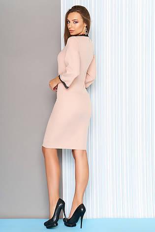 """Элегантное женское платье """"S-20""""- бежевое, фото 2"""