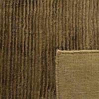 Ковер из бананового шелка цвета хаки однотонный, фото 1