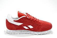 Женские кроссовки в стиле Reebok Classic Leather, Red\Красные, фото 3