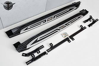 Пороги подножки боковые тюнинг Jeep Compass