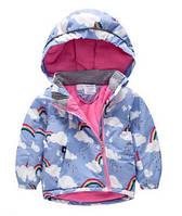 Куртка флис OBERORA Синяя радуга 90,100,110,120,130