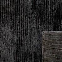 Шикарный богатый толстый черный ковер из бананового шелка , фото 1