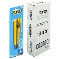 Нож OLFA стандартный, 300, 9 мм, трещоточный фиксатор