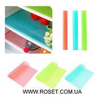 Антибактериальные силиконовые коврики для холодильника (4 шт).