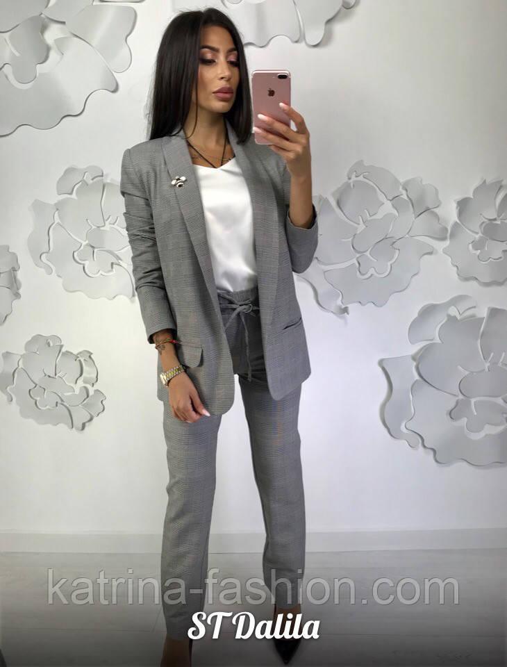 42777f6a3b0 Женский брючный костюм в клетку  пиджак и брюки - KATRINA FASHION - оптовый  интернет-