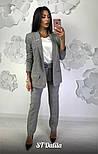 Женский брючный костюм в клетку: пиджак и брюки , фото 2