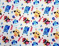 """Детский Плед одеяло  """" Совы """" для новорожденного 110*95 в роддом для прогулок"""