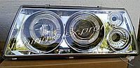 Передние фары на ВАЗ 2109 в хроме; (светодиодная подсветка)