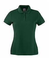 Женская футболка поло  LADY-FIT  Темно-Зеленый