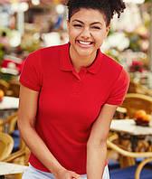 Женская футболка поло  LADY-FIT  Красный