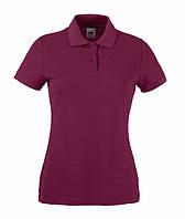 Женская футболка поло  LADY-FIT  Бордовый