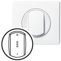 Лицевая панель - Программа Celiane - выключатель с подсветкой или индикацией - белый
