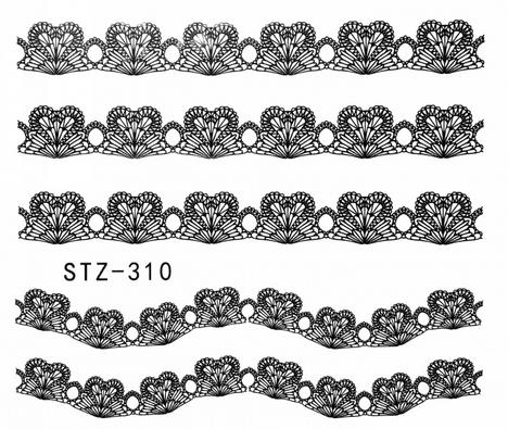 Слайдер-дизайн для ногтей STZ-310 6.2*5.2 см