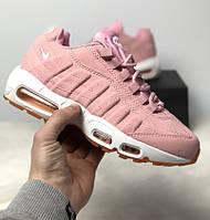 Кроссовки Nike Air Max 95 Pink. Живое фото. Топ качество! (Реплика ААА e26d14e059478
