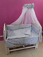 Комплект детского постельного белья Волна и Точка 8 ед Bepino
