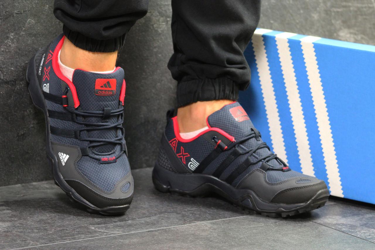 Кроссовки мужские Adidas AX2 кожаные популярные удобные под джинсы адидас (синие), ТОП-реплика