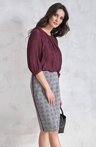 Женская блуза из вискозы бордового цвета. Модель V34 Sunwear, коллекция осень-зима 2018-2019